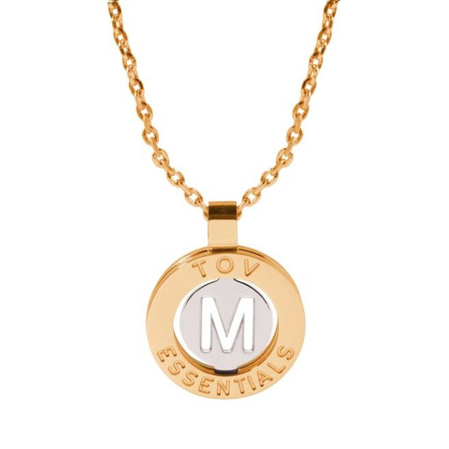 Iniziali necklace 2.0 - Gold/White Gold - Letter M