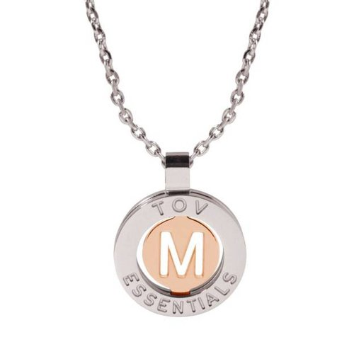 Iniziali necklace 2.0 - White Gold/Rose - Letter M