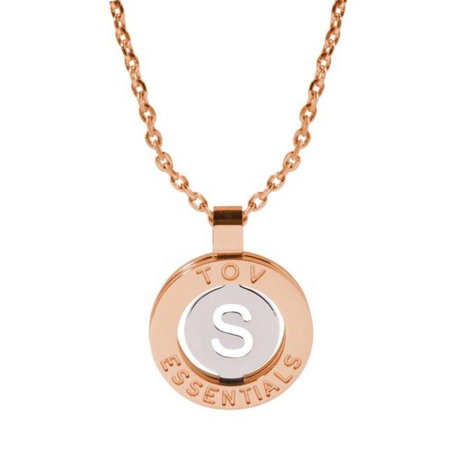 Iniziali necklace 2.0 - Rose/White Gold - Letter S