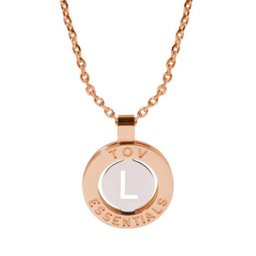 Iniziali necklace 2.0 - Rose/White Gold - Letter L