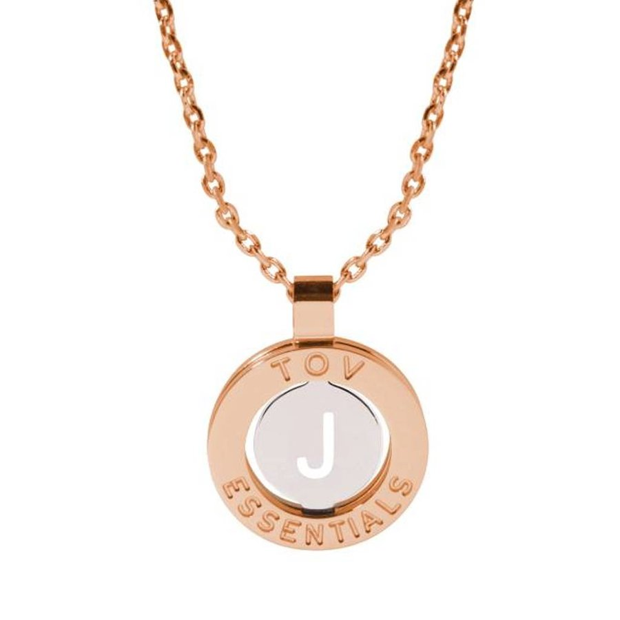 Iniziali necklace 2.0 - Rose/White Gold - Letter J