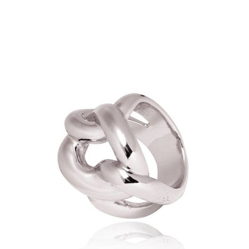 Plain gourmet ring - White Gold