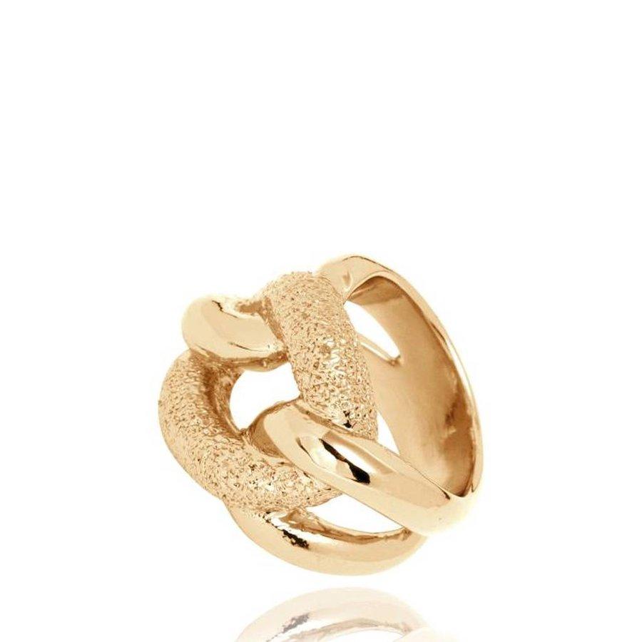 Diamond Effect Gourmet ring - Goud