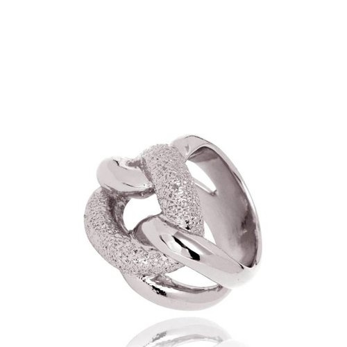Diamond Effect Gourmet ring - Wit Goud