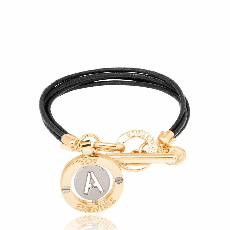 Iniziali - waxed cord - bracelet