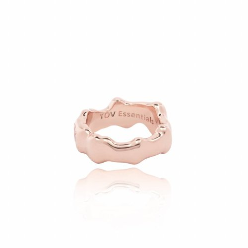 Oak ring - bold  - rose