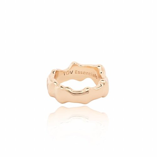 Oak ring - bold  - gold