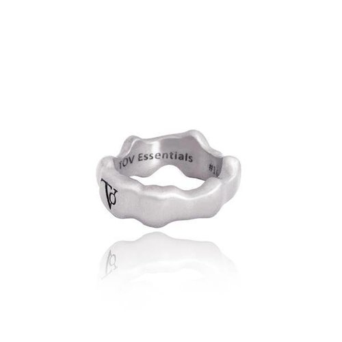 Oak ring - bold  - silver
