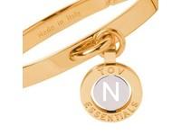 Iniziali bangle 2.0 - Gold/White Gold - Letter N