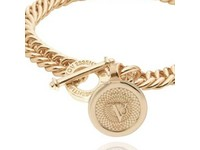 Ini mini mermaid medaillon bracelet - Light gold