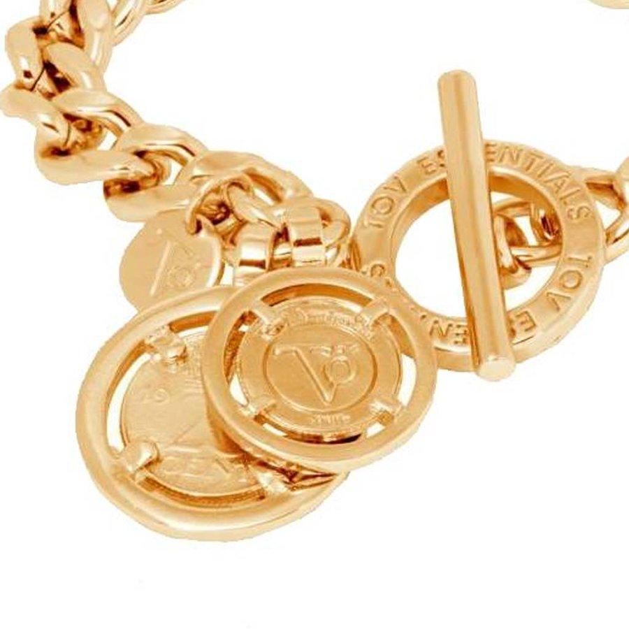 Mini flat chain bracelet - Gold