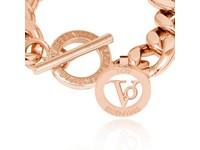 Small flat chain bracelet - Rose