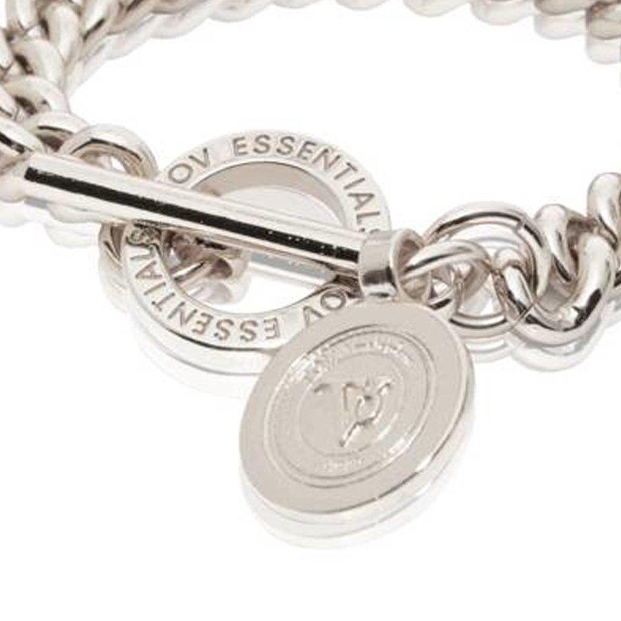 Mini medaillon solochain bracelet - White Gold