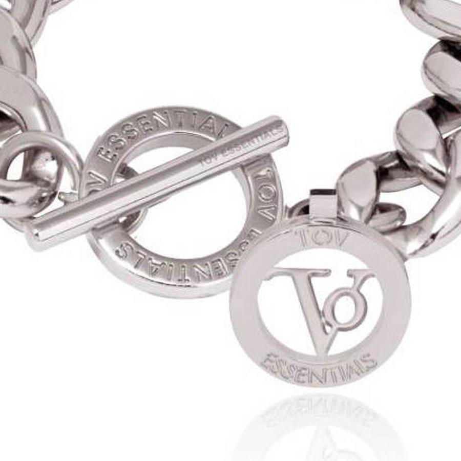 Small flat chain bracelet - White Gold