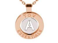 Iniziali ketting 2.0 - Rose/Wit Goud - Letter A