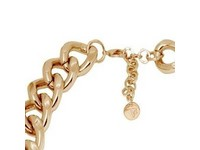 Flat gourmet necklace - Light Gold