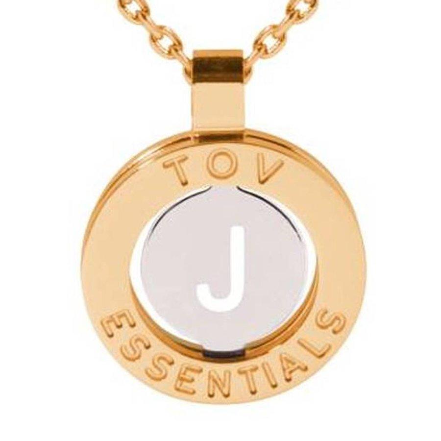 Iniziali necklace 2.0 - Gold/White Gold - Letter J