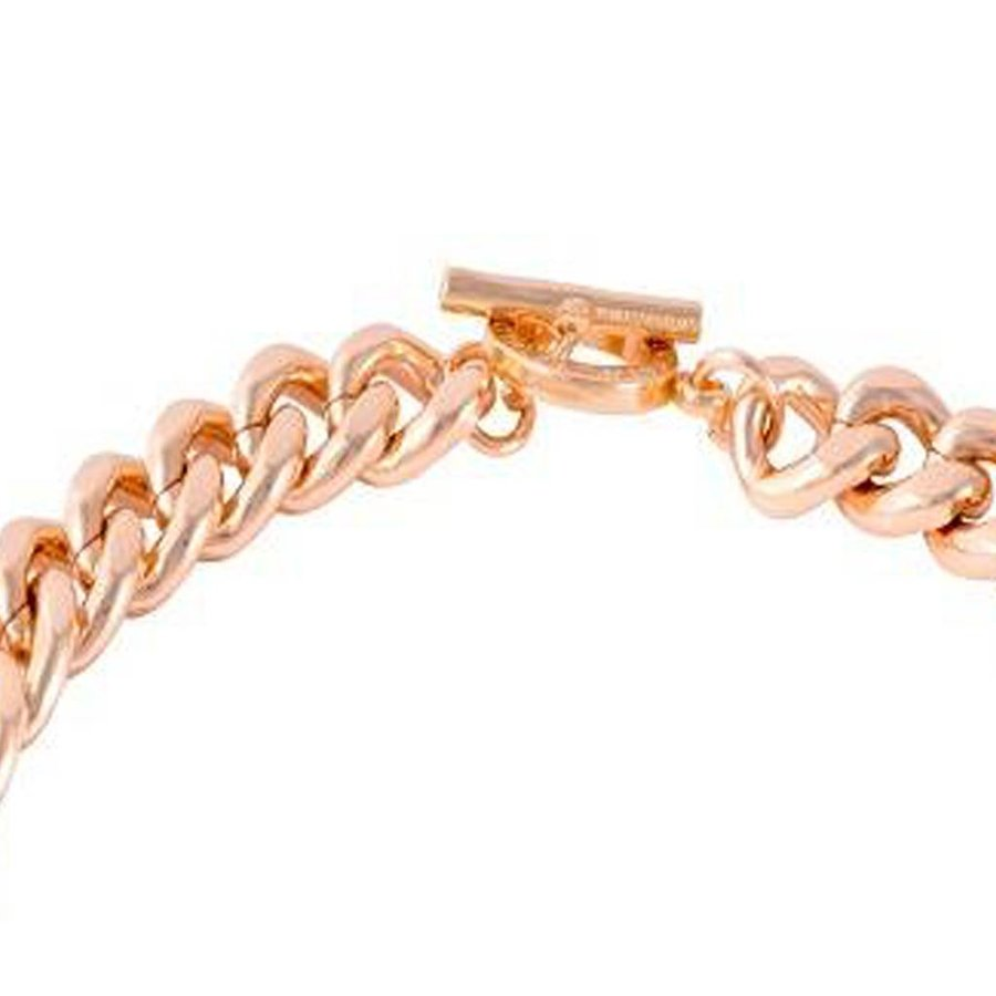 Small flat chain collier - Rose