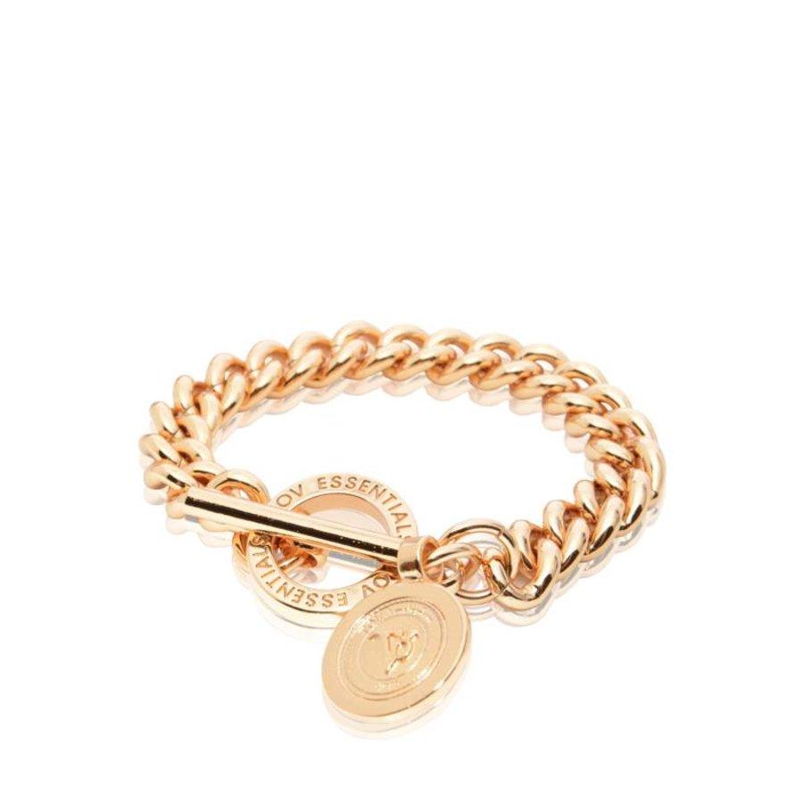 Mini Medaillon Solochain - Armband - Rose