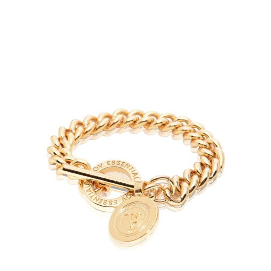 Mini Medaillon Solochain - Armband - Goud