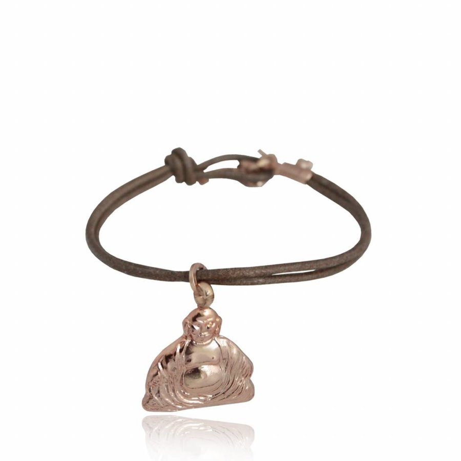 Buddha pendant - bracelet - rose