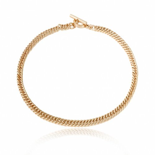 Ini mini mermaid collier - Wit Goud