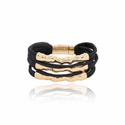Oak Twig - Armband- Gold/ Black