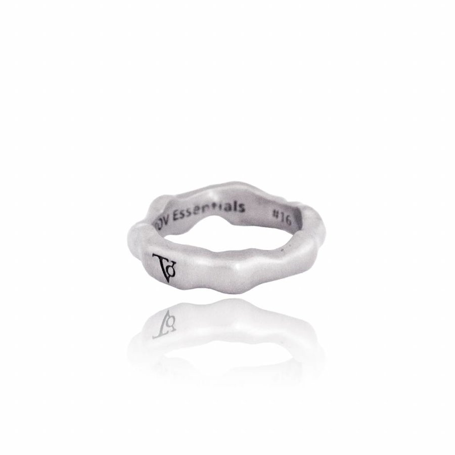 Oak ring - silver plated