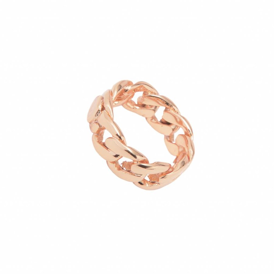 Braided chain ring - Rose