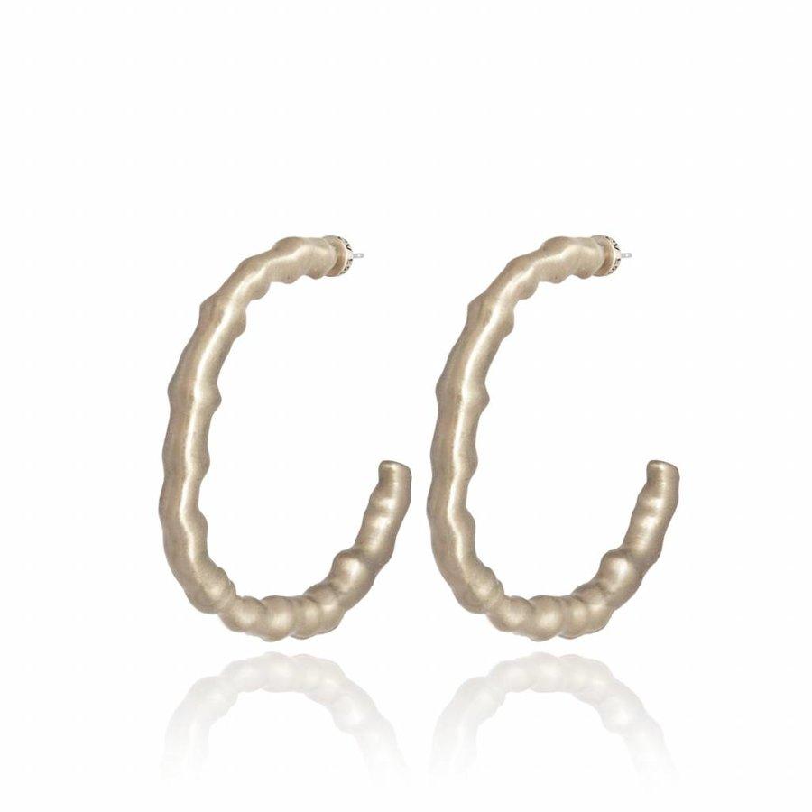 Oak earring - Light brass