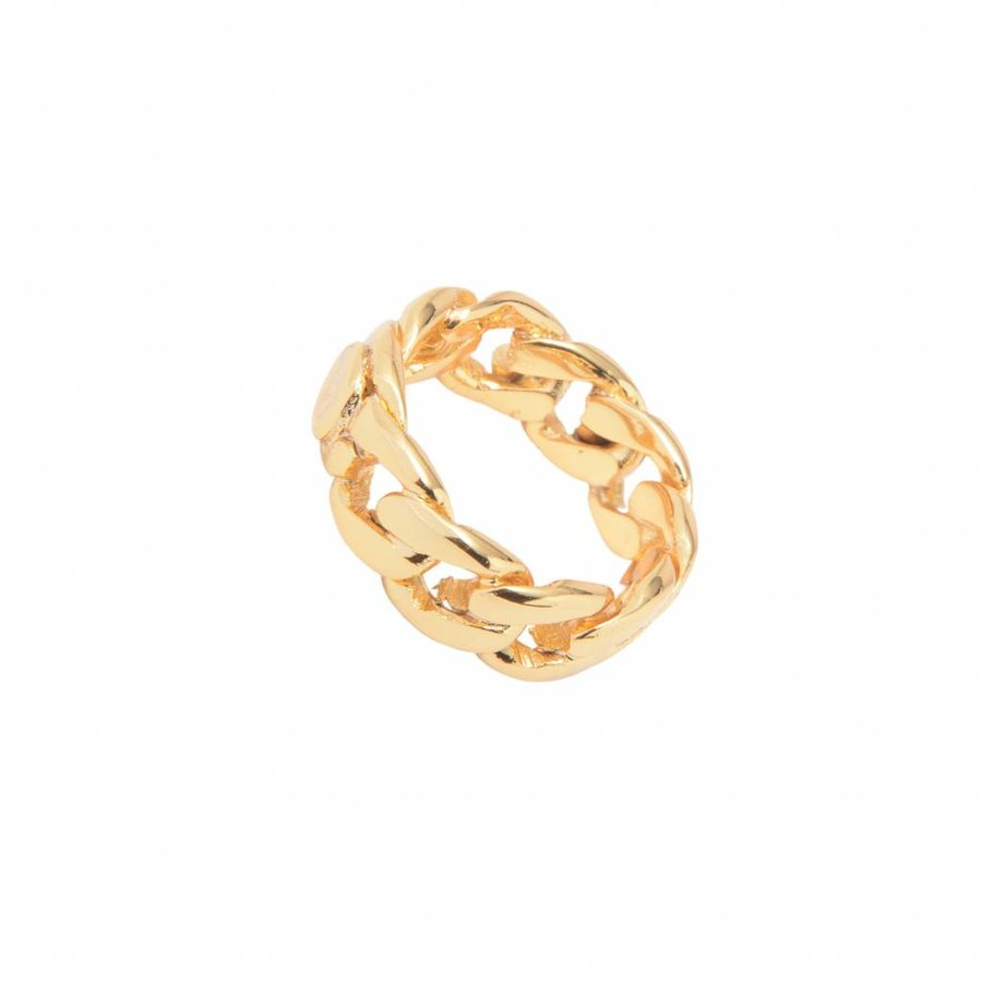 Braided chain ring - Goud