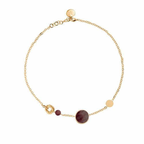 Mystic multi necklace - Gold/ Smoke quartz