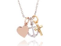 Hope.Love.Faith short necklace tri colori -