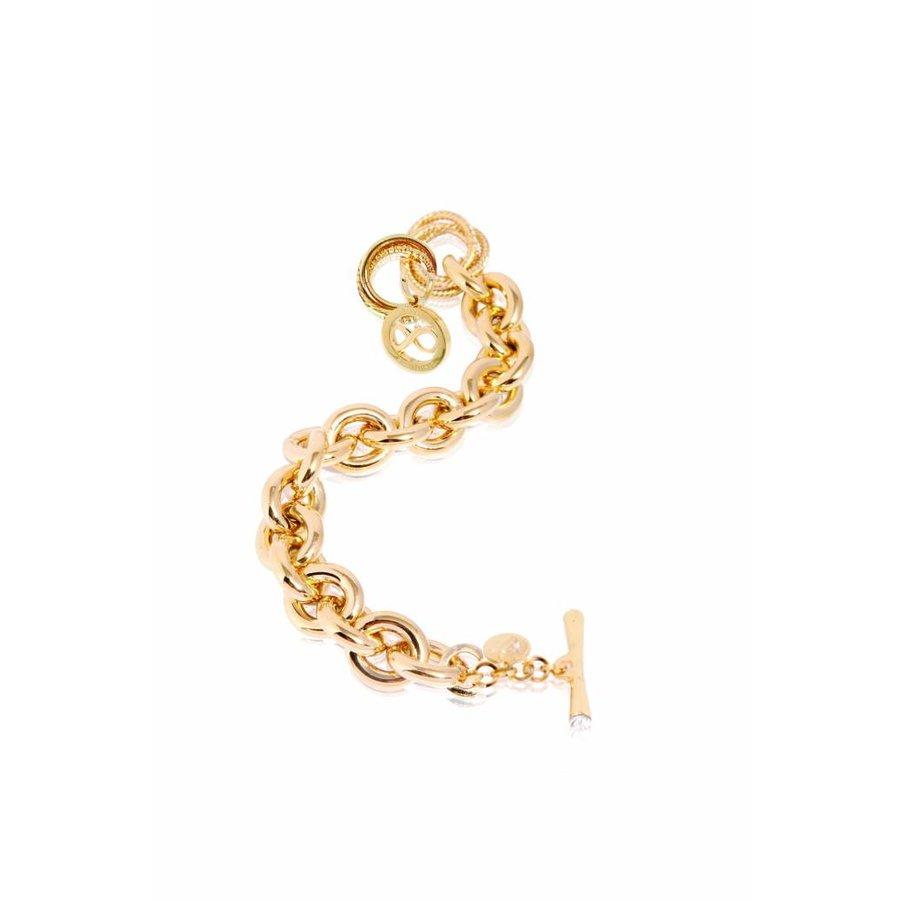 Infinity Medallion - Armband - goud