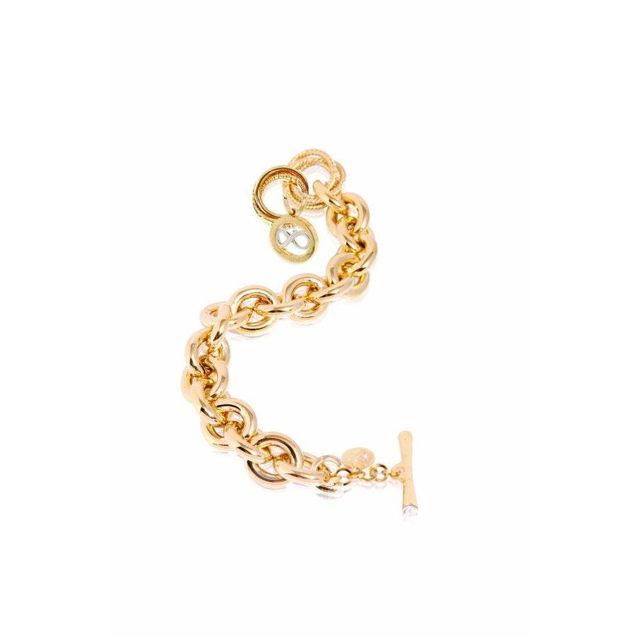 Infinity Medallion - Armband- goud/ wit goud