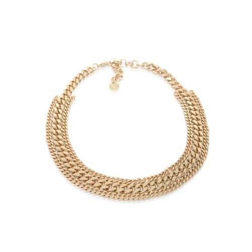 3 Types of chains short collier - champagne goud