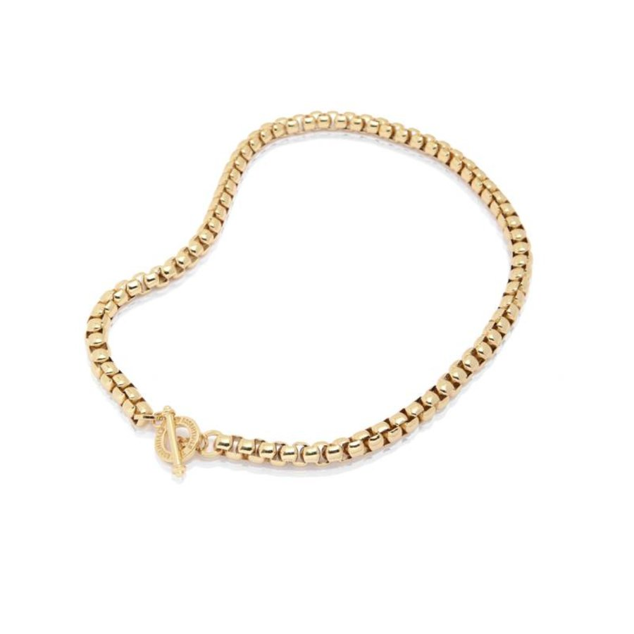 Round venice chain necklace - Light gold