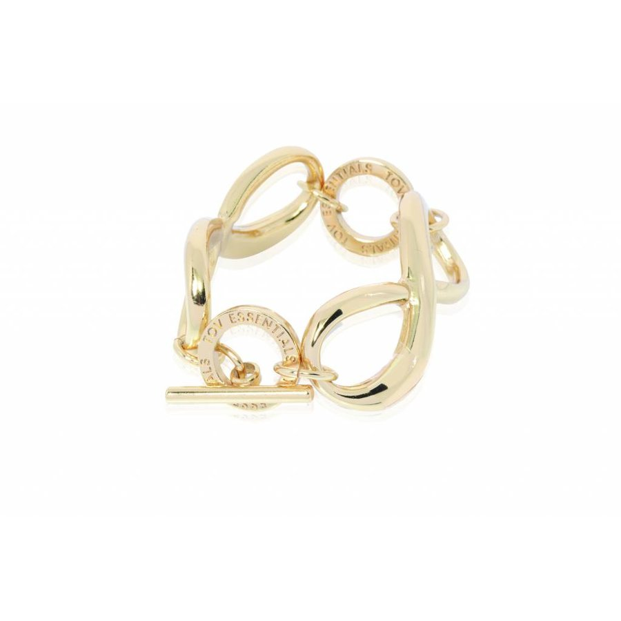 Big infinity bracelet - Light gold