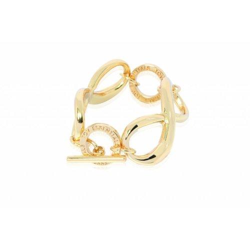 Big infinity bracelet - Gold
