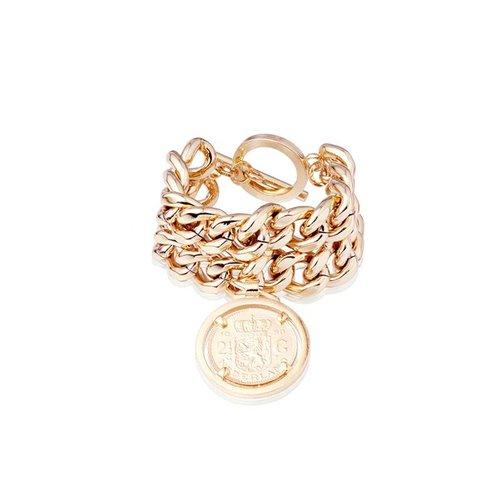 Double chain bracelet - Rose