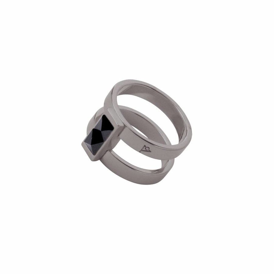 Phoenix multi ring - Gun metal/ Jet metallic