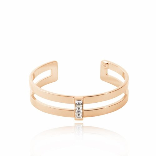 Phoenix multi cuff (Armband) - Rose/ Crystal