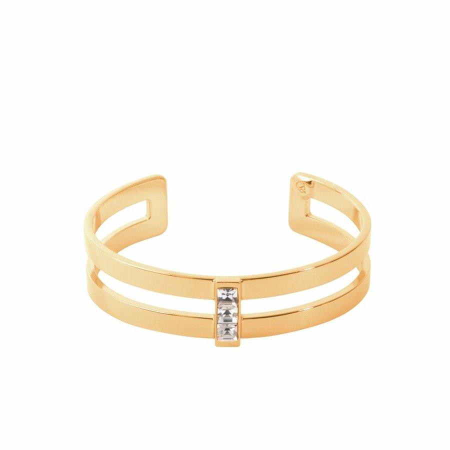 Phoenix multi cuff (Armband) - Goud/ Crystal
