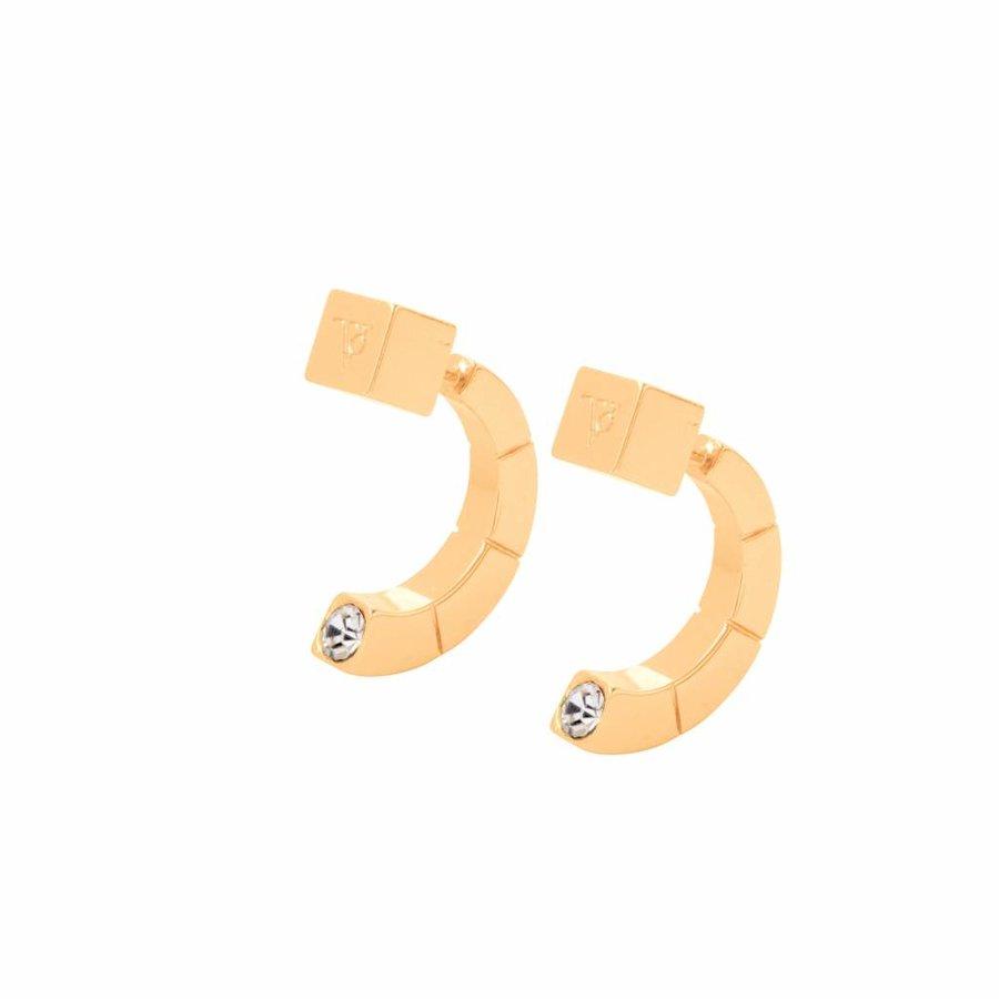 Phoenix earring - Gold/ Crystal