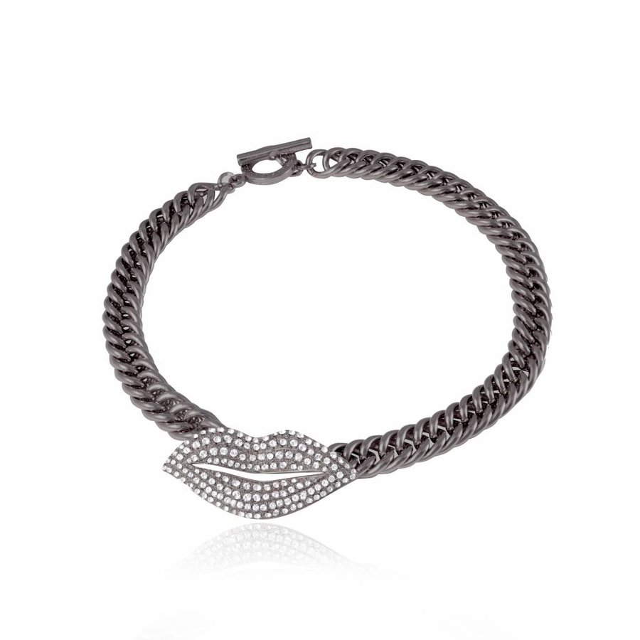 Kiss mermaid collier - Gun metal