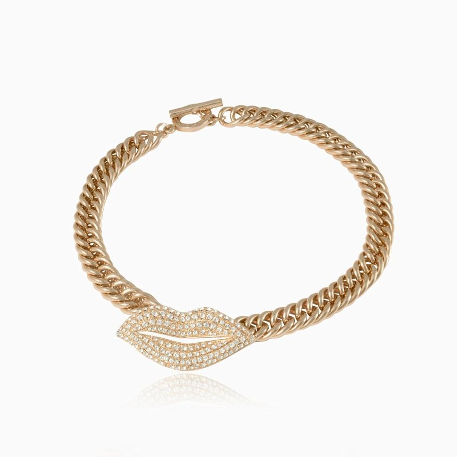 Kiss mermaid collier - Light gold