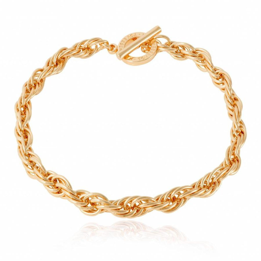 Small twisted chain ketting - Goud