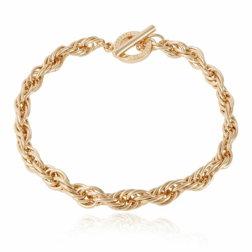 Small twisted chain ketting - Champagne  goud