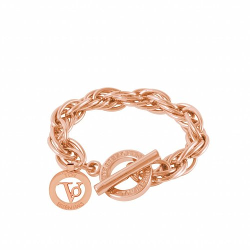 Small twisted chain bracelet - Rose