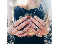 Oak 3 row ring - Gold